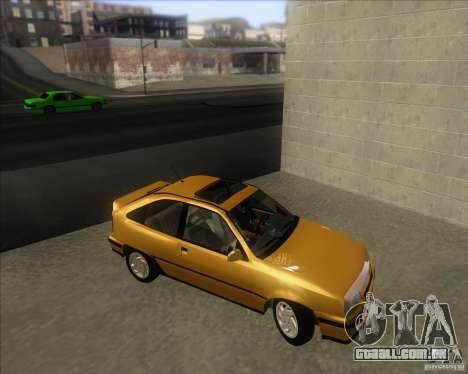Chevrolet Kadett GSi 2.0 (1991-1995) para GTA San Andreas vista direita