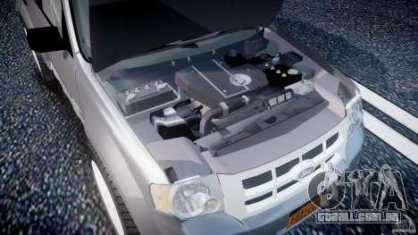 Ford Escape 2011 Hybrid Civilian Version v1.0 para GTA 4 vista de volta
