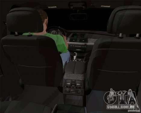 BMW X6 para GTA San Andreas vista interior