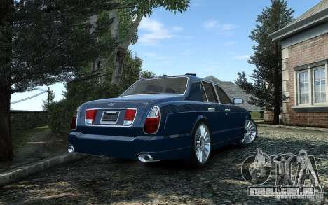Bentley Arnage T para GTA 4 vista de volta
