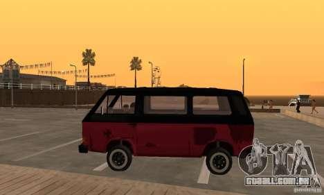 Volkswagen T3 Rusty para GTA San Andreas esquerda vista