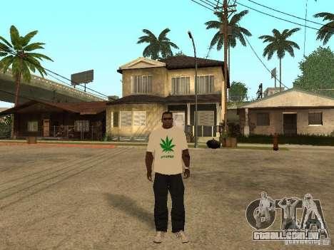 T-shirt com grama para GTA San Andreas