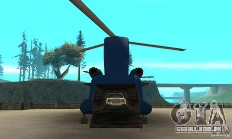 CH-47 Chinook ver 1.2 para GTA San Andreas vista traseira
