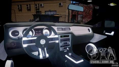 Ford Mustang V6 2010 Chrome v1.0 para GTA 4 vista direita
