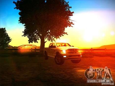 Dodge Ram Heavy Duty 2500 para GTA San Andreas vista traseira