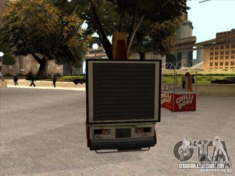 Sweeper Pizza Boy para GTA San Andreas esquerda vista