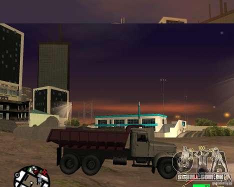 Caminhão de descarga KrAZ-256 para GTA San Andreas esquerda vista