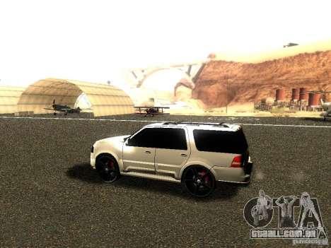 Ford Expedition 2008 para GTA San Andreas traseira esquerda vista