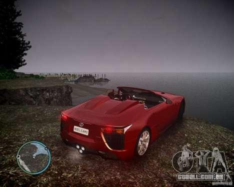 Lexus LF-A Roadster para GTA 4 esquerda vista