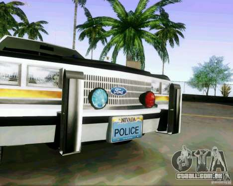 Ford Crown Victoria LTD 1991 LVMPD para GTA San Andreas vista traseira