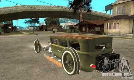 HotRod sedan 1920s para GTA San Andreas traseira esquerda vista