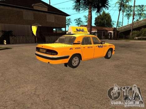 Volga GAZ-31105 táxi para GTA San Andreas vista direita