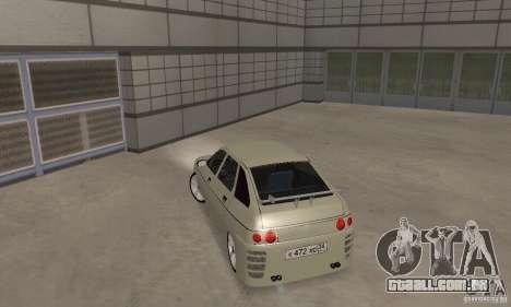 LADA 2112 Tuning (F) para GTA San Andreas traseira esquerda vista