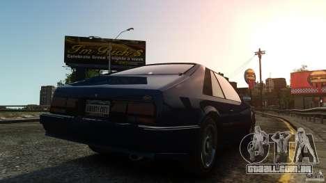 Uranus Hatchback para GTA 4 traseira esquerda vista