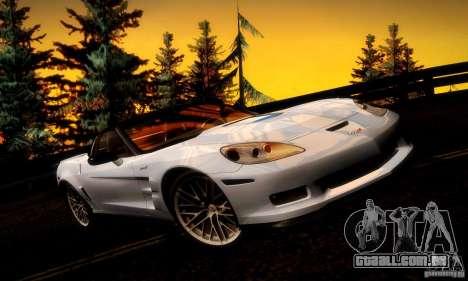 Chevrolet Corvette ZR-1 para o motor de GTA San Andreas