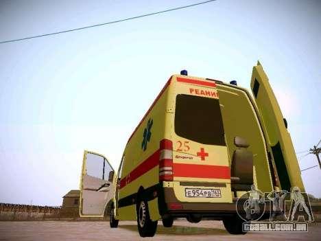 Mercedes Benz Sprinter Ambulance para GTA San Andreas vista superior