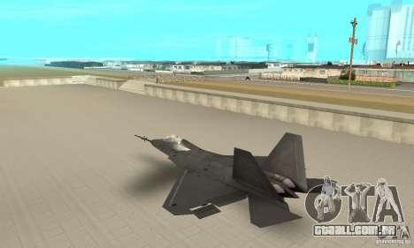 YF-22 Black para GTA San Andreas traseira esquerda vista