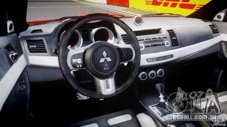Mitsubishi Lancer Evo X 2011 para GTA 4 vista direita