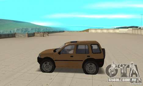 Land Rover Freelander KV6 para GTA San Andreas esquerda vista