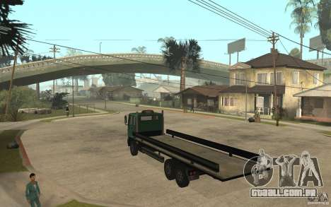 DFT30 Dumper Truck para GTA San Andreas traseira esquerda vista