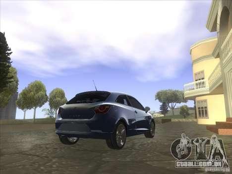 Seat Ibiza 2008 para GTA San Andreas esquerda vista