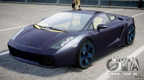 Lamborghini Gallardo Superleggera para GTA 4 vista superior
