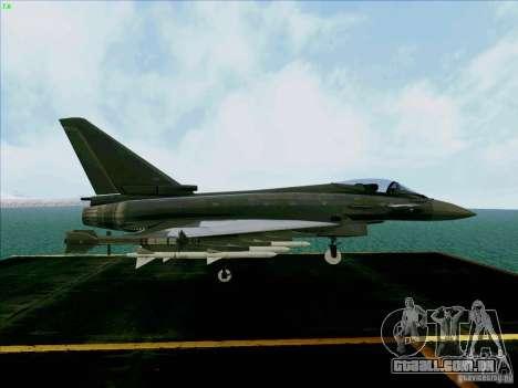 Eurofighter-2000 Typhoon para GTA San Andreas vista direita
