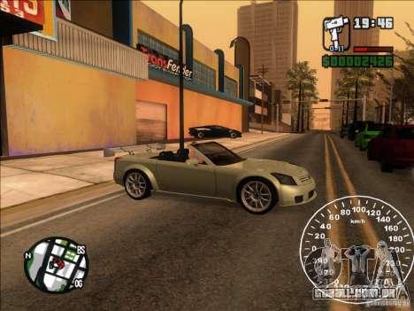 Cadillac XLR para GTA San Andreas vista interior
