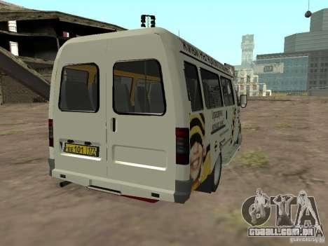 Beeline gazela 32213 para GTA San Andreas traseira esquerda vista