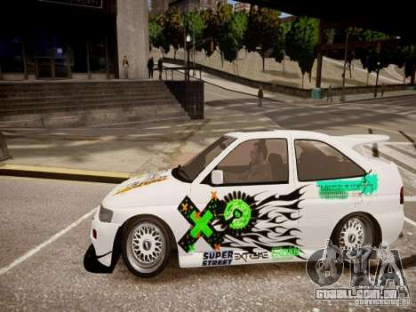 Ford Escort RS Cosworth 1992 para GTA 4 esquerda vista