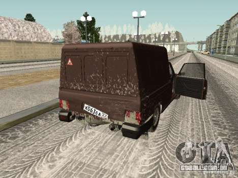 IZH 27175 edição de inverno para GTA San Andreas vista interior