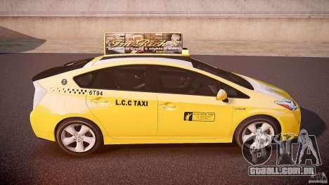Toyota Prius LCC Taxi 2011 para GTA 4 vista superior