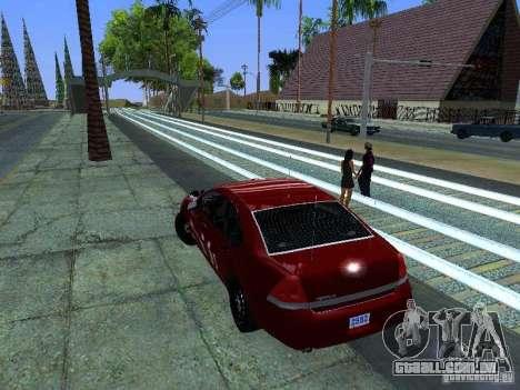 Chevrolet Impala Unmarked para GTA San Andreas vista direita