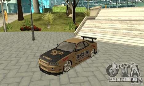 Nissan Skyline R-34 GTR para o motor de GTA San Andreas