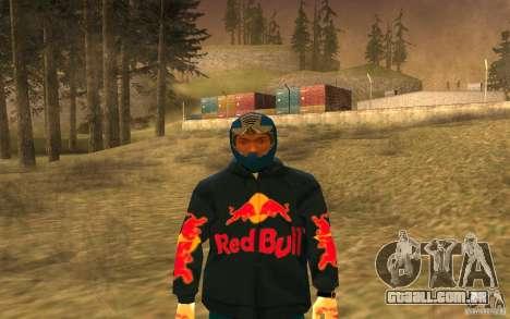 Red Bull Clothes v1.0 para GTA San Andreas quinto tela