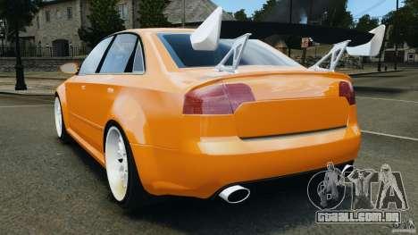 Audi RS4 EmreAKIN Edition para GTA 4 traseira esquerda vista