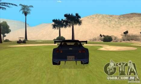 Nissan Skyline R34 GT-R LM para GTA San Andreas interior
