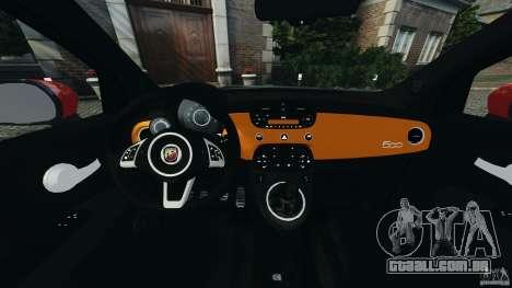 Fiat 500 Abarth para GTA 4 vista de volta