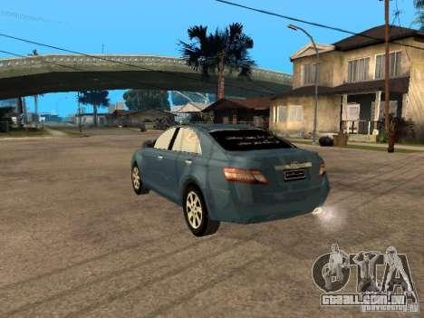 Toyota Camry 2009 para GTA San Andreas esquerda vista