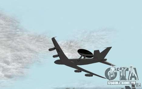 Boeing E-3 Sentry para GTA San Andreas esquerda vista