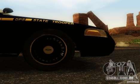 Ford Crown Victoria Nevada Police para GTA San Andreas vista direita