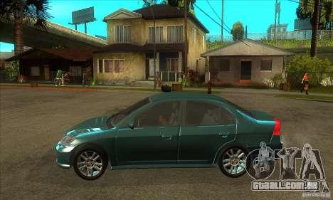 Honda Civic 2005 para GTA San Andreas esquerda vista
