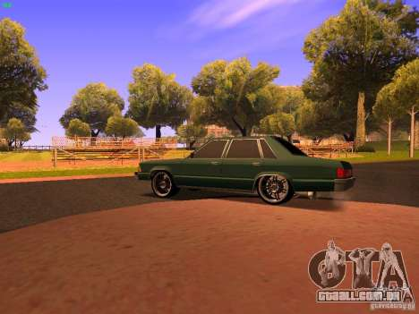 Chevrolet Malibu 1980 para GTA San Andreas traseira esquerda vista