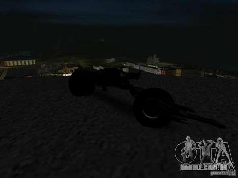 Batpod para GTA San Andreas vista traseira