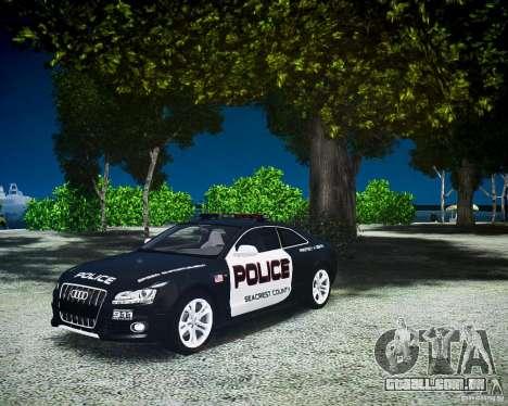 Audi S5 Police para GTA 4 vista direita