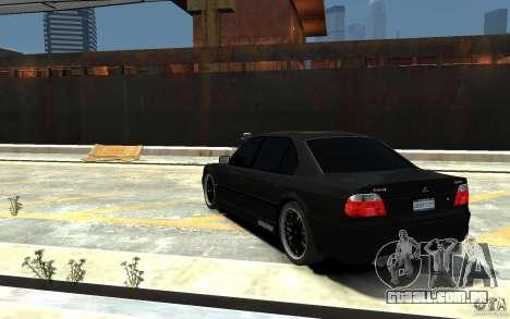 BMW 750i E38 HAMANN para GTA 4 traseira esquerda vista