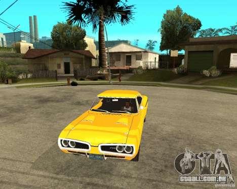 Dodge Coronet Super Bee 70 para GTA San Andreas vista traseira