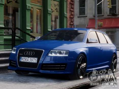 Audi RS6 Avant para GTA 4 vista direita
