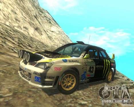 Subaru Impreza WRX STI DIRT 2 para GTA San Andreas interior