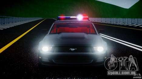 Ford Mustang V6 2010 Police v1.0 para GTA 4 interior